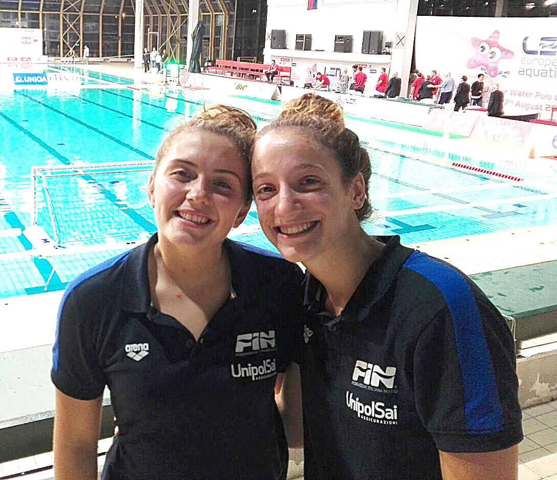 "Under 17 femminile: Sara Ingannamorte e Lucrezia Cergol protagoniste agli Europei di Novi Sad: ""Una bellissima esperienza"""
