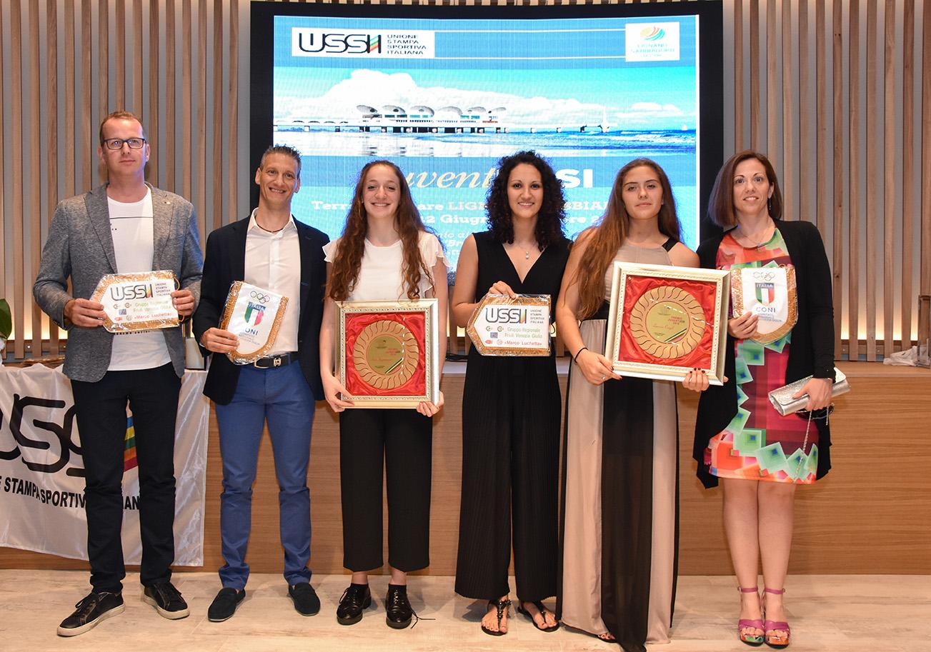 Premi Juventussi: importanti riconoscimenti per le orchette della Pallanuoto Trieste Lucrezia Cergol, Sara Ingannamorte e Gioia Krasti